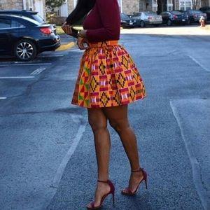 Custom made kente skirt